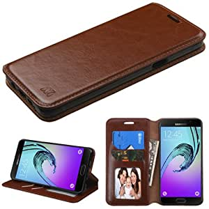 The Smart Choice (Tm) [ Leather Wallet Case ] Alcatel One Touch Evolve 2, Alcatel One Touch Evolve 4037 (T-mobile) Wallet Flip Case Pouch Cover Fold Stand Case Premium Leather Wallet Flip Case Pu Leather with Card Slots { with a Free Touch Pen } (Brown Myjacket Wallet)