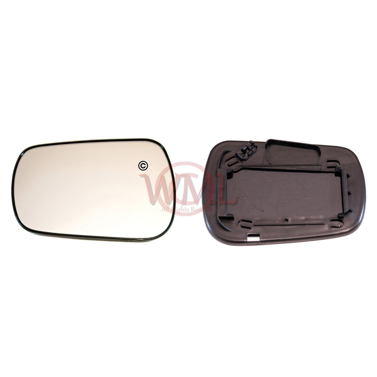 Convex Mirror Glass With Plastic Base Plate Non Heated Left Hand Side