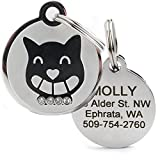 GoTags Pet ID Designer Dogs & Cats Smiley Cat Pet