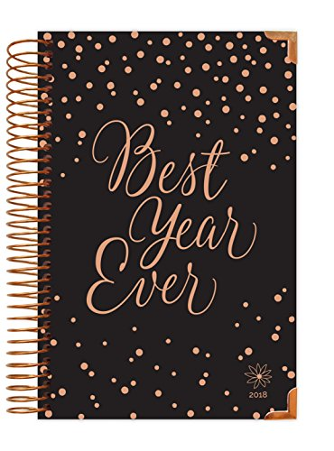 "bloom daily planners 2018 Calendar Year HARD COVER Daily Planner - Passion/Goal Organizer - Monthly and Weekly Datebook Agenda Diary - January 2018 - December 2018 - 6"" x 8.25"" - Best Year Ever"