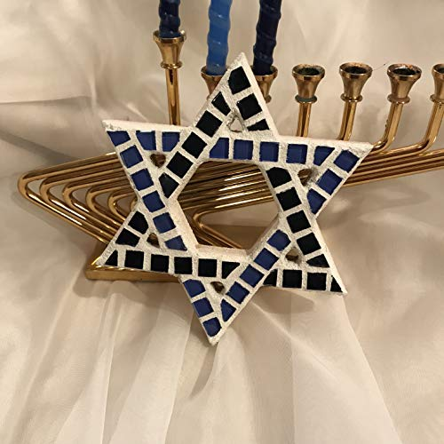 Mosaic David - Star of David Mosaic Wall Hanging