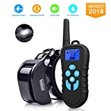 Dog Shock Collar With Remote 1500FT Shock Collar for Dogs IPX7 Waterproof and Rechargeable Dog Training Collar 1-99 Levels Vibration and Shock Collar for Large Dogs and Small Dogs USB Charging