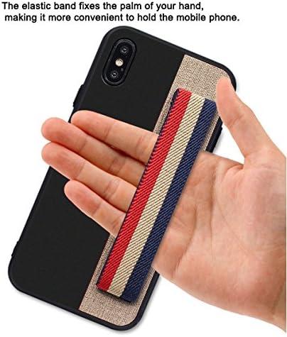 Mycher- téléphone Coque pour iPhone X Coque de protection avec poignée antidérapante Grip Band iPhone Coque pour Secure Texting/photos/Selfies- ...