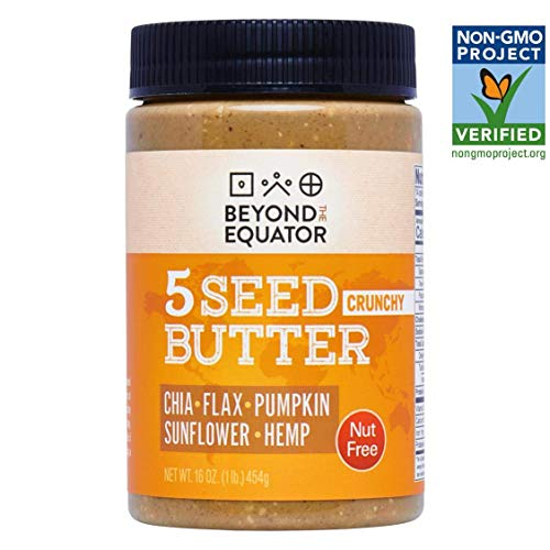 Beyond the Equator 5 Seed Butter - Nut Free, Low Carb, Keto, Non-GMO - Crunchy 1 pack