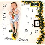 Monthly-Milestone-Blanket-for-Babies-First-Year-Growth-Tracker-Photo-Backdrop-Prop-for-Newborn-Infant-Toddler-40×40-inches-Ideal-Girl-Boy-Create-Moments-to-Memories