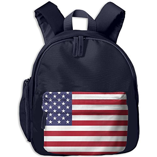 Flag Of The United States Boys Girls Toddler Pre School Backpack Fun Cartoon Style Childrens School Bag Backpack Best For Kindergarten (State Youth Backpack)