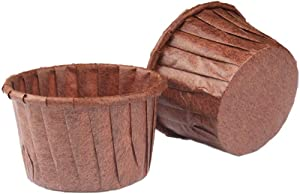 Cupcake Liners Baking Muffin Paper Baking Cups, Standard Size Nonstick Parchment Papers Cup cake Wrappers for Weddings, Birthdays, Baby Showers (Coffee 50pcs)