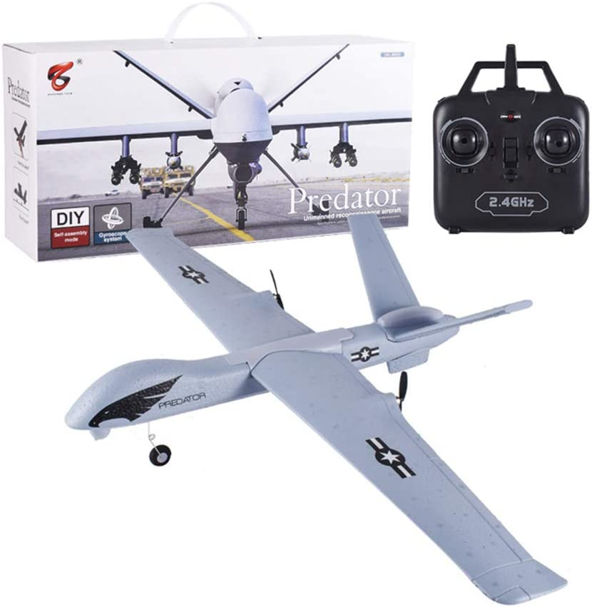 LCDYPlaneador Remoto Fijo LED, Drone De Seguimiento De Lanzamiento Manual, Avión Grande RC, Juguete Resistente A Caídas EPP, Caja De Regalo + Regalo