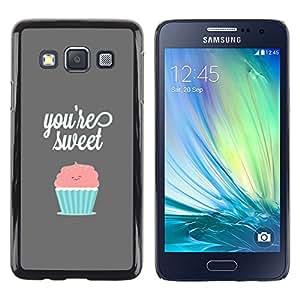 Samsung Galaxy A3 / SM-A300 , Radio-Star - Cáscara Funda Case Caso De Plástico (You'Re Sweet Pastel Cupcake)