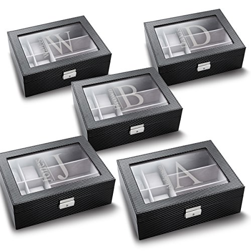 Set of 5 Personalized Watch and Sunglasses Boxes - Modern - Monogram Sunglasses
