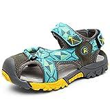 BININBOX Summer Breathable Sandals Girl Boys Toddler Kid Shoe Closed-Toe Ribbon