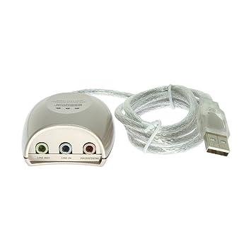 Amazon.com: usbgear USB 2.0 Caja de Adaptador de audio con ...