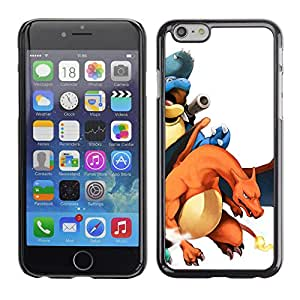 LECELL--Funda protectora / Cubierta / Piel For iPhone 6 -- Personajes P0kemon charizo --