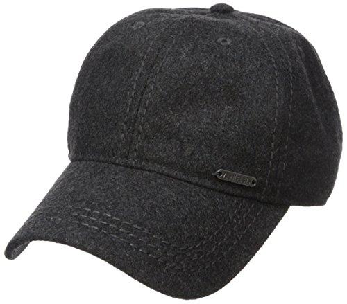 Van Heusen Men's Wool Baseball Cap, Adjustable, Charcoal Heather, One Size