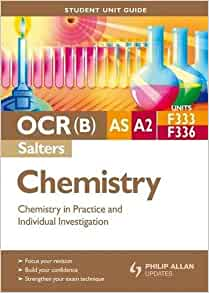 ocr chemistry salters a2 coursework In contrast to the traditional 'topic-based' approach, chemistry b (salters) is ' context-led' chemical concepts are introduced within a relevant context, the course being written as a series of units based on contemporary issues in chemistry students study the chemistry in a spiral way so that chemical ideas, introduced in an.