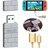 8Bitdo Wireless Bluetooth Adapter for Nintendo Switch/Windows/Mac/Playstation Classic Console/ PS1 Mini and Raspberry Pi,with OTG Cable