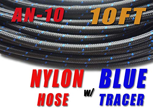 5//8 Price for 10FT NLAN10-010 TT Racing 10 AN AN10 Nylon Stainless Steel Braided Fuel Line Hose 14.2 mm