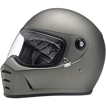 Casco Helmet integral Biltwell Lane divisor approvazione Dot y homologado ECE Europa Italia Titanio Mate Flat