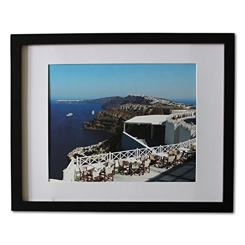 Premium 11 14 Picture Frame Wood - Made To Display Picture 8 10 Photo With Mat Or 11 14 Without Mat- Ready To Hang Or Stand Horizontally And Vertically