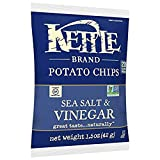 Kettle Brand Potato Chips, Sea Salt and Vinegar, Single-Serve 1.5 Ounce (Pack of 64) For Sale