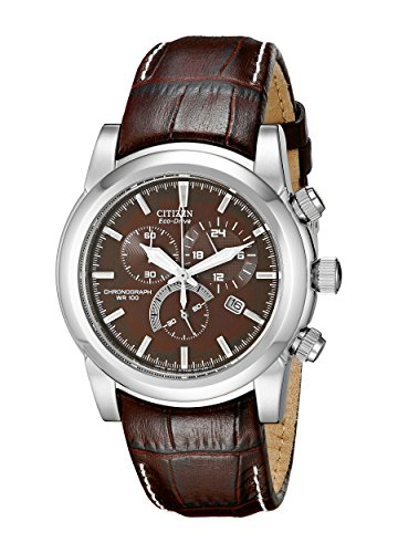 Citizen Men's Eco-Drive Brown Strap Chronograph Watch