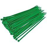 Gocableties Paquete de 100 bridas para cables verdes, 300 mm x 4,8 mm, de nailon resistentes de gran calidad