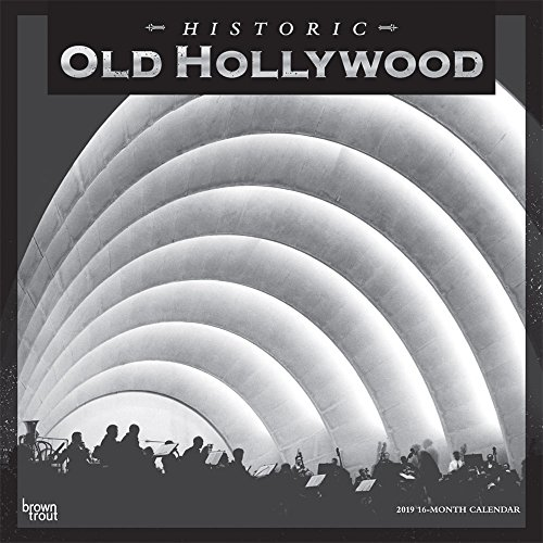 Old Hollywood 2019 12 x 12 Inch Monthly Square Wall Calendar, USA United States of America California Los Angeles Pacific West City (English, French and Spanish Edition) by BrownTrout Publishers