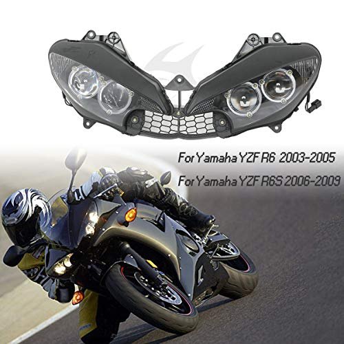 2007 Yamaha Yzf R6 - XFMT Motor Headlights Head Light Lamp Assembly Compatible with Yamaha YZF R6 2003-2005 YZF R6S 2006-2009