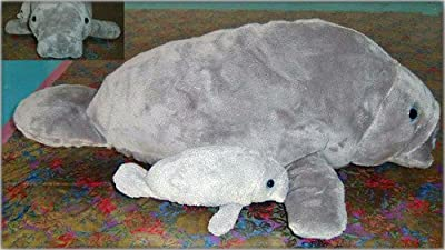 Wishpets Manatee 17 L With Baby 8 L Plush Toy Stuffed Animal by Wishpets