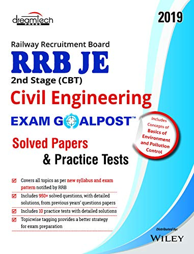 RRB JE 2nd Stage (CBT) Civil Engineering Exam Goalpost Solved Papers & Practice Tests, 2019