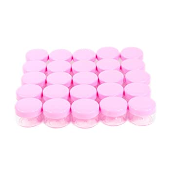 42eb32182e3b 5Gram Cosmetic Containers 25pcs Sample Jars Tiny Makeup Sample Containers  with lids