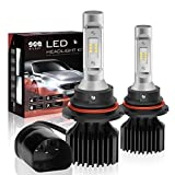 #9: 9007/HB5 LED Headlight Bulbs Conversion Kit, Dual High/Low Beam Bulbs, DOT Approved, SEALIGHT X1 Series, 6000K Xenon White, 2 Yr Warranty