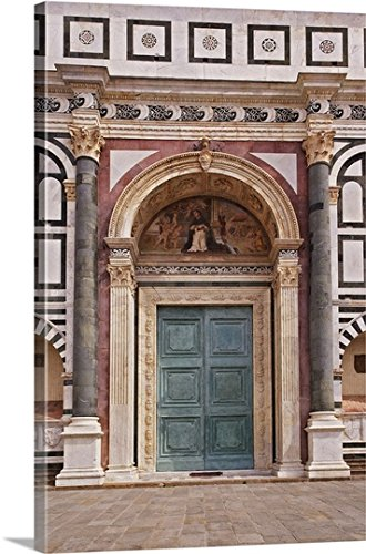 Adam Jones Gallery Wrapped Canvas - Ornate Doorway, Piazza della Signoria, Florence, Italy
