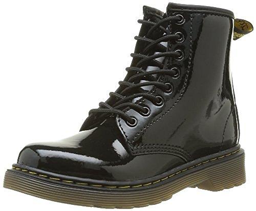 Dr. Martens Delaney Boot,Black Patent,2 UK(3 M US Little Kid)