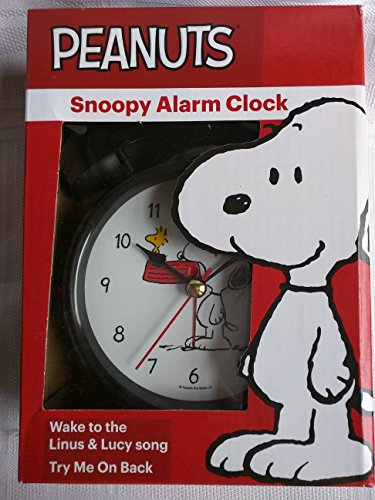 2 Bell Alarm Clock (Peanuts Snoopy Two Bell Alarm Clock Wakes to the Linus & Lucy)