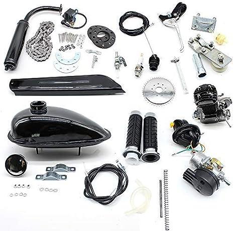WDVVpepy - Motor Central para Bicicleta, 80 CC, 2 Tiempos, Kit de Motor de Gasolina para Bicicleta: Amazon.es: Deportes y aire libre