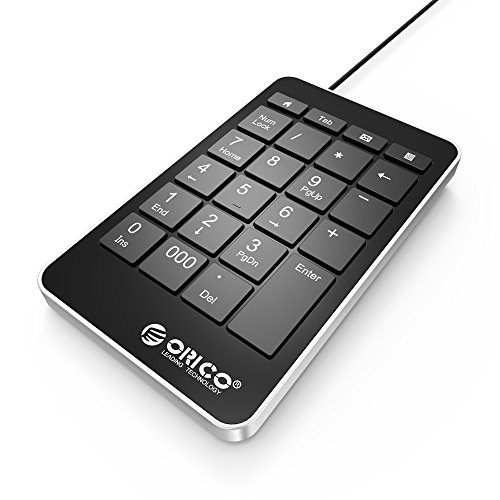 orico usb numeric keypad 23 key portable slim number pad for notebook laptop pc macbook pro. Black Bedroom Furniture Sets. Home Design Ideas