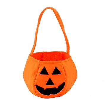 Amazon.com: Bolsas de Halloween Pumpkin Candy Soportes para ...