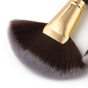 Saking 10 Pieces Makeup Brushes Set Professional Foundation Eyebrow Blush Cosmetics Brush Kit(Black)