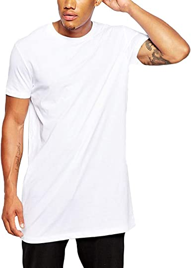 Overdose Camisas Hombre Negras Camiseta De Manga Corta De Color Solido Informal De Verano para Hombres Blusa Larga Deportiva Superior para Fiesta En La Playa: Amazon.es: Ropa y accesorios