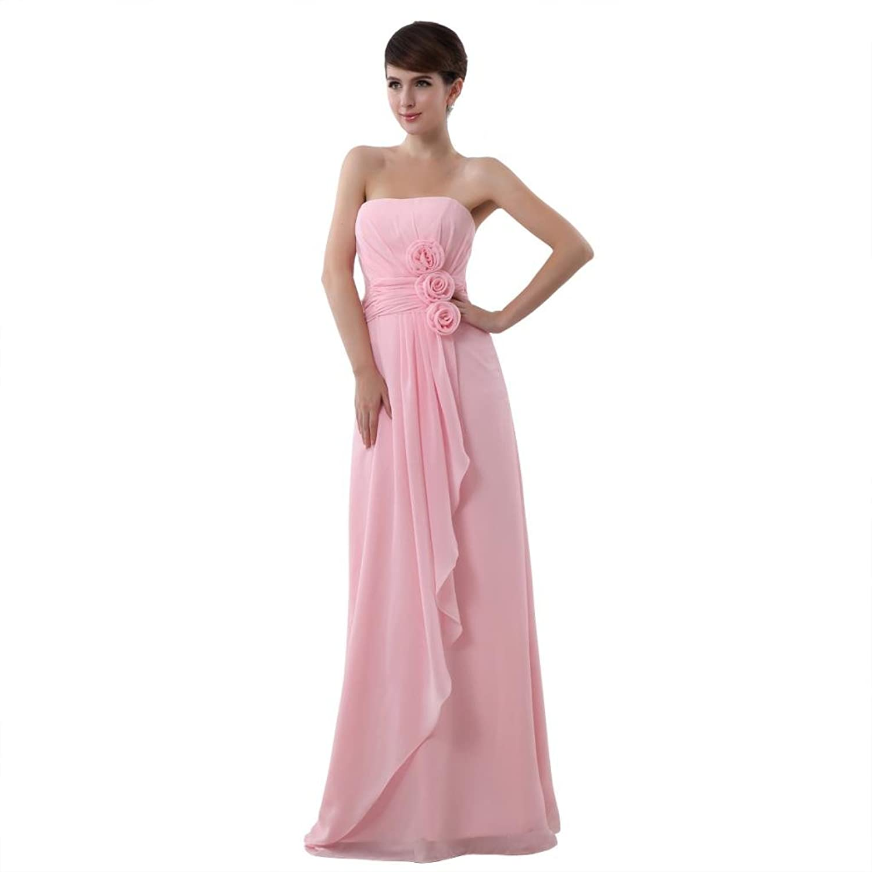 Favebridal Women's Strapless Floor Length Bridesmaid Prom Dress