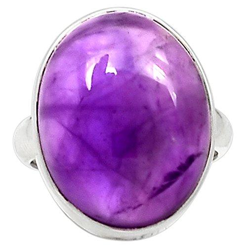 Cab Amethyst Ring - Lovegem Genuine Amethyst Cab Ring 925 Sterling Silver,Size:6.25, AR2297