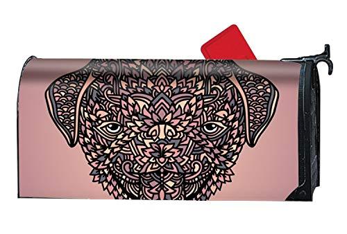 - XPNiao Magnetic Garden Yard Mailbox Cover Strange Pug