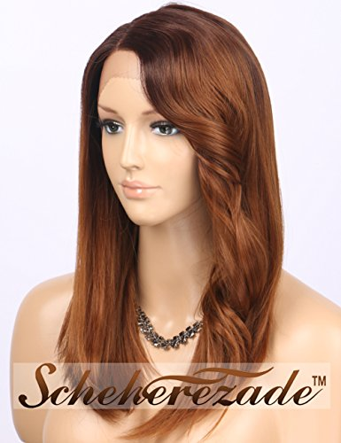 long brown wig with side bangs - 6
