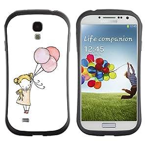Suave TPU GEL Carcasa Funda Silicona Blando Estuche Caso de protección (para) Samsung Galaxy S4 I9500 / CECELL Phone case / / little girl balloon art white mother mom /