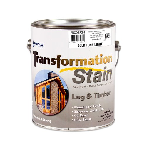Sashco Transformation Log and Timber Stain, 1 Gallon Pail, Gold Tone Light (Pack of 1)