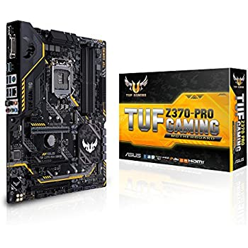 ASUS TUF Z370 Pro Gaming LGA1151 DDR4 HDMI DVI M.2 Z370 ATX Motherboard with Gigabit LAN and USB 3.1 for 8th Generation Intel Core Processors