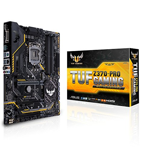 ASUS TUF Z370 PRO Gaming LGA1151 Intel 8th Gen DDR4 HDMI DVI M2 Z370 ATX Motherboard with Gigabit LAN and USB 31