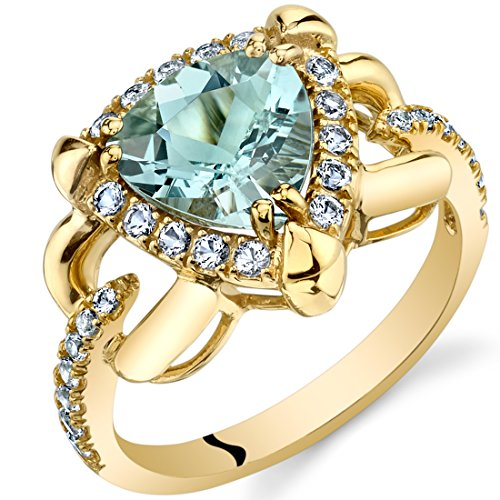 (Aquamarine Homage Ring in 14K Yellow Gold (1.50 carat) )