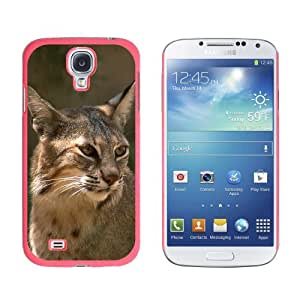 Bobcat - Cat - Snap On Hard Protective Case for Samsung Galaxy S4 - Pink